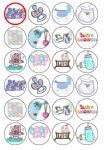 24 x Baby Shower edible wafer paper bun cup cake top toppers